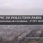 Pic Pollution Paris, Restrictions de Circulation, 27 Février 2019